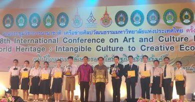 จัดนิทรรศการแสดงผลงานทางศิลปวัฒนธรรม เครือข่ายทำนุบำรุงศิลปวัฒนธรรมมหาวิทยาลัยแห่งประเทศไทย